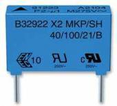 Condensateur plastique 1.5µF 275V X2