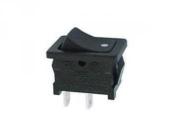 Interrupteur à bascule rectangle noir