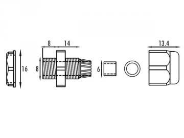 Capteur photoélectrique polarisé avec réflecteur