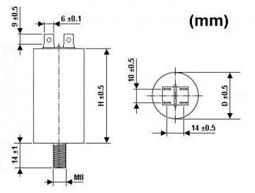 Condensateur de démarrage 0.6µF 450V