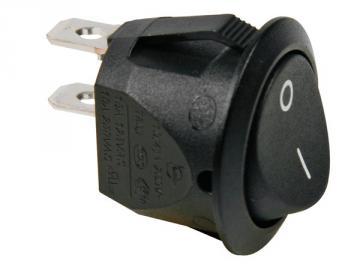 Interrupteur à bascule rond noir