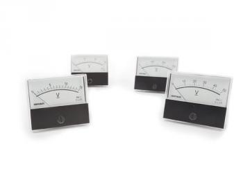 Voltmètre analogique de tableau 70 x 60mm