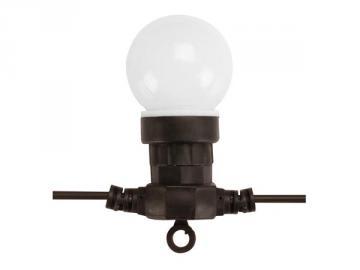 Guirlande de fête à led 9,5mm 10 lampes blanc chaud XMPL11