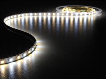 Flexible LED 60 leds/m 24Vcc 14.4W/m IP20 / Blanc froid - chaud