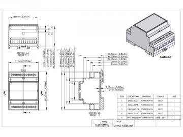 Boitier modulaire sur rail DIN 4MG