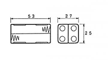 Coupleur de pile 4 x AAA LR3