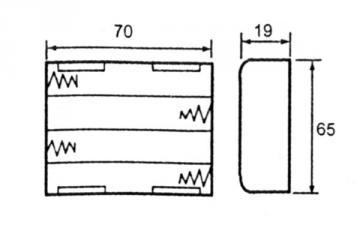 Coupleur de pile 4 x AA LR6