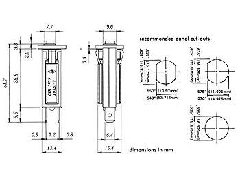 Fusible automatique 4A 250Vac