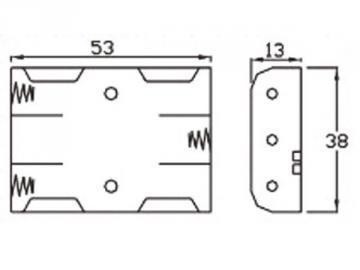 Coupleur de pile 3 x AAA LR3