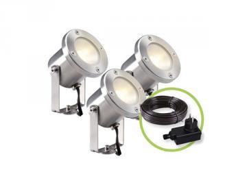 Garden Lights CATALPA 3 spots LED 12V