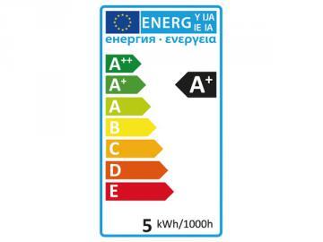 Ampoule LED filament E14 5W flamme coubée
