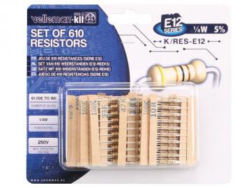 Jeu de 610 résistances série E12