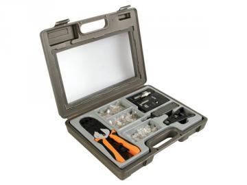 Kit à sertir pour connecteurs modulaires P4P4C (RJ10), 6P4C (RJ11), 6P6C (RJ12), 8P8C (RJ45) VTMUS3
