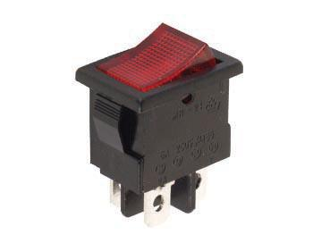 Interrupteur à bascule rectangle petit format