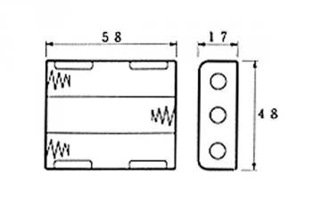 Coupleur de pile 3 x AA LR6