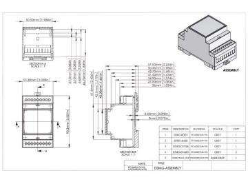 Boitier modulaire sur rail DIN 3MG