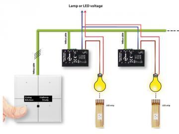 Module relais miniature à 1 canal avec contact libre de potentiel pour montage universel VMB1RYNOS