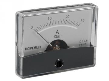 Ampèremètre analogique de tableau 60 x 47mm / 30A