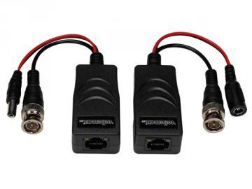 Balun vidéo/alimentation HD-TVI sur RJ45 la paire