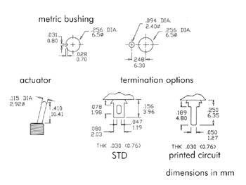 Inverseur bipolaire ON - OFF - (ON) astable d'un coté vertical