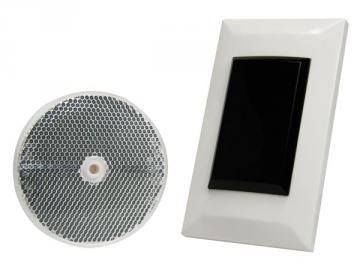 Capteur photoélectrique avec réflecteur, 7 m - montage affleuré