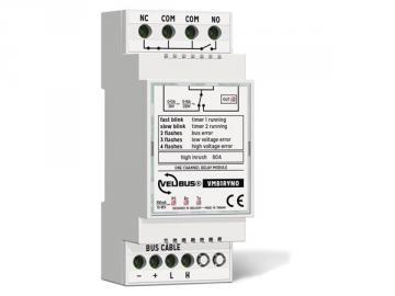 Module relais à 1 canal avec contact inverseur libre de potentiel pour rail din VMB1RYNO