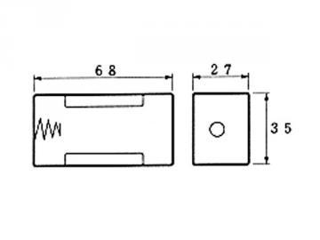 Coupleur de pile 1 x D LR20