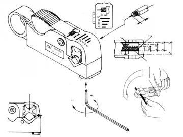 Dénudeur de câbles coaxiaux (rg58-RG59) VTCOAX
