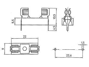 Porte fusible CI 5 x 20mm