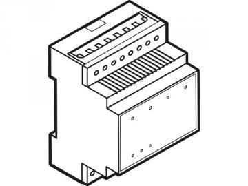 Module relais à 4 canaux avec contacts libres de potentiel pour rail din VMB4RYNO