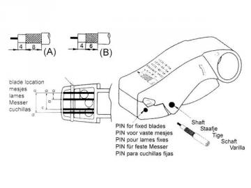 Dénudeur de câbles coaxiaux 3lames (rg58-rg59) VTCOAX3