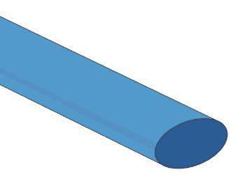 Gaine thermorétractable 12.7mm 2:1 de couleurs différentes / Bleu