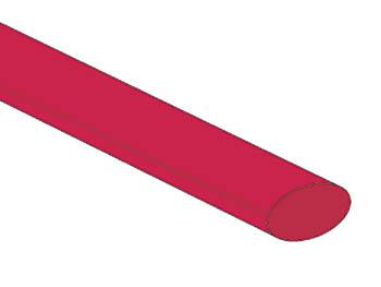 Gaine thermorétractable 9.5mm 2:1 / Rouge