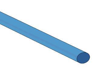 Gaine thermorétractable 4.8mm 2:1 de couleurs différentes / Bleu