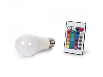 Lampe LED E27 10W RGB + blanc chaud