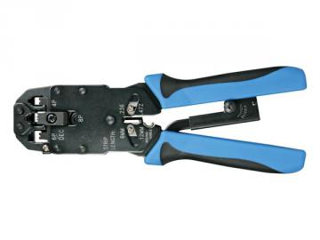 Pince à sertir professionnelle pour connecteurs modulaires 4p4c(RJ10), 6P4C (RJ11), 8P8C (RJ45), DEC VTM468HP