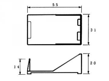 Coupleur de pile 9V sur fils