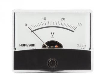 Voltmètre analogique de tableau 60 x 47mm