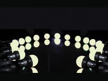 Guirlande de fête avec 20 lampes led blanc chaud XMPL10WW