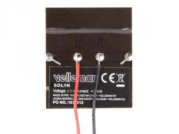 Petite cellule solaire 0.5V 400mA SOL1N