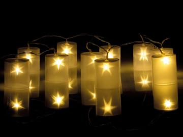 Guirlande led lampes cylindriques avec effet holographique XMPL9