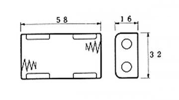 Coupleur de pile 2 x AA LR6