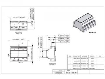 Boitier modulaire sur rail DIN 6MG